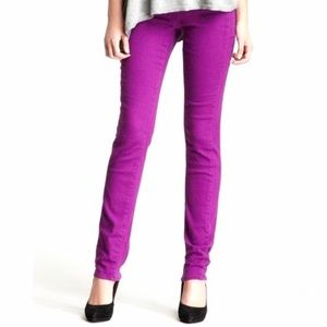 DKNY SoHo Skinny Purple Denim Stretch Jeans